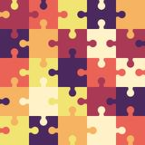 Bright puzzle seamless background or pattern. Vector Stock Images