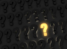 Bright Question Royalty Free Stock Photography