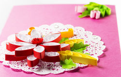 Bright quilling in the form Stock Photo