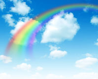A bright rainbow Stock Photo