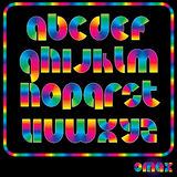 Bright Rainbow Alphabet Royalty Free Stock Photos