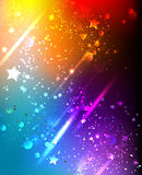 Bright rainbow background Stock Image