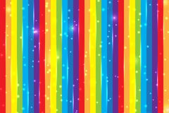 Bright rainbow background with shiny particles. Background for decoration of holiday card. Magic multicolor banner. Bright rainbow background with shiny Royalty Free Stock Images