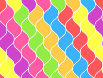 Bright rainbow colored abstract net chain pattern. Vector fashion sunbow grid texture for textile, backgrounds, wallpapers, wrapping paper, covers, banners Royalty Free Stock Photo