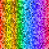 Bright rainbow colored rectangle mosaic seamless pattern Stock Images