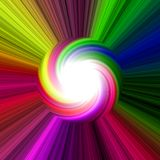 Bright rainbow colorful and twirl disk Stock Photos
