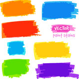 Bright rainbow colors vector pain spots set Stock Image