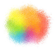 Bright rainbow colors vector paint powder cloud Stock Photos