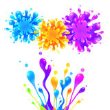 Bright rainbow colors vector paint splash Stock Photo