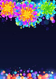 Bright rainbow colors vector paint splash firework Stock Photo