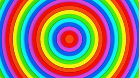 Bright rainbow concentric circles abstract 3D render background. Bright rainbow concentric circles. Computer generated abstract 3D render background Stock Illustration