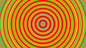 Bright rainbow concentric circles. Seamless loop smooth 3D animation. Abstract background
