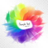 Bright Rainbow Design Element Template fot Text on Transparent B Stock Photo