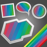 Bright rainbow geometrical figures Royalty Free Stock Photo