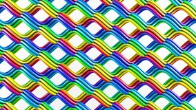 Bright rainbow gradient colorful grid abstract 3D rendering royalty free illustration