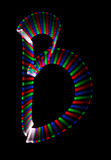 Bright rainbow letter B on black background Royalty Free Stock Photo