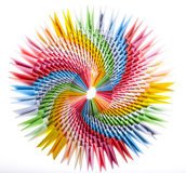 Bright rainbow modular origami close up Royalty Free Stock Images