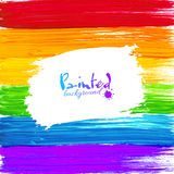 Bright rainbow paint splashes vector background Stock Photos