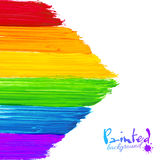 Bright rainbow paint strokes arrow background Royalty Free Stock Image