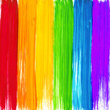 Bright rainbow paint strokes background Stock Photo