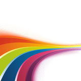 Bright rainbow swoosh lines background Stock Photo