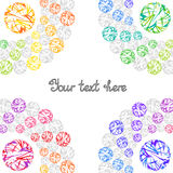 Bright Rainbow Templates for Text, Placard, Cover. Abstract Fram Royalty Free Stock Photography