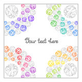 Bright Rainbow Templates for Text, Presentation, Cover. Royalty Free Stock Photography