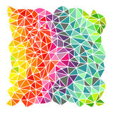 Bright rainbow triangles background Royalty Free Stock Photos
