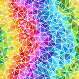 Bright rainbow triangles seamless background Royalty Free Stock Images