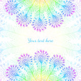 Bright rainbow vector peacock feathers background Royalty Free Stock Image