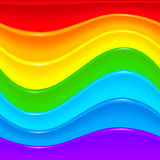 Bright rainbow vector plastic waves background Stock Photos