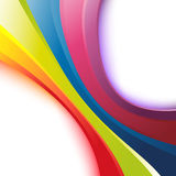 Bright rainbow wave background Stock Photography