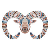 Bright Ram, zodiac Aries sign Royalty Free Stock Images