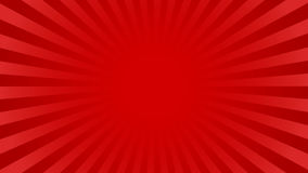 Bright rays background. Bright red rays background with 16 9 aspect ratio. Comics, pop art style. Vector, eps 10 Stock Image