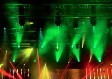 Bright rays of light on stage Stock Photography