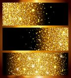 Bright realistic golden background for new year, gold foil texture. A super cool template for design, Christmas, holidays, wedding. Vector illustration Vector Illustration