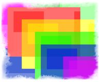 Bright rectangles in white frame Stock Image