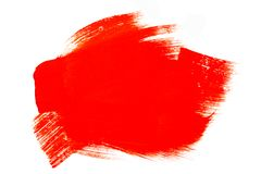 Bright red abstract aquarel watercolor background. Colorful red acrylic watercolor brush strokes royalty free stock image