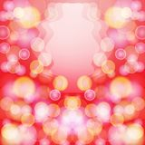 Bright red abstract background with bokeh effect. Stock Photos