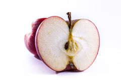 Bright Red Apple Cross Section Slice Cut Cross Section Inside Cl Royalty Free Stock Image