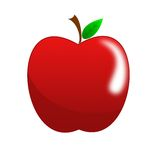 Bright red apple Royalty Free Stock Photo