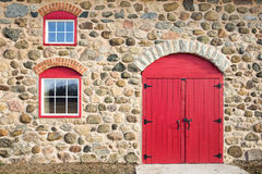 Free Bright Red Arched Door And Windows Royalty Free Stock Images - 63860299