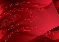 Bright red vector background with music notes Royalty Free Stock Photo