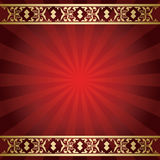 Bright red vector background with rays from center Royalty Free Stock Photo