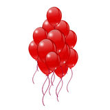 Bright red balloons on a white background. Red Balloons on a white background. Greeting cards Royalty Free Stock Image