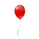 Bright red balloons on a white background. Red Balloons on a white background. Greeting cards Royalty Free Stock Images