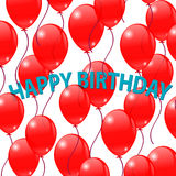 Bright red balloons on a white background. Red Balloons on a white background. Greeting cards Royalty Free Stock Photo