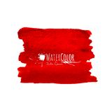 Bright red banner isolated on white background Royalty Free Stock Image