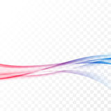 Bright red blue smooth border swoosh wave Royalty Free Stock Photos