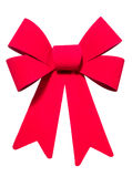 Bright Red Bow Stock Image